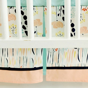 Floral Crib Skirt | Summer Grove Crib Collection