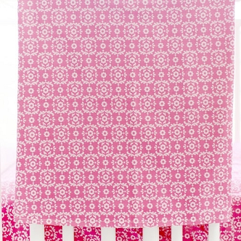 Summer Song Pink Crib Blanket
