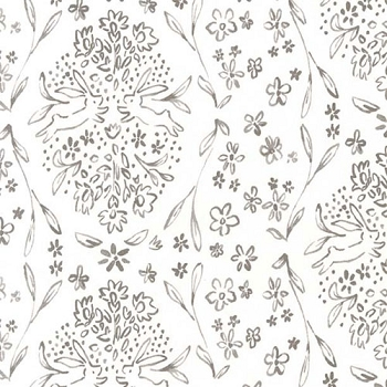 Gray Bunny Fabric | Michael Miller Sunborn Cloud