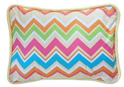 Yellow & Pink Chevron Throw Pillow  |  Sunnyside Up Crib Collection