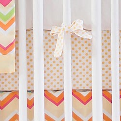 Yellow Polka Dot Crib Sheet | Sunnyside Up Collection
