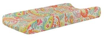 Pink Paisley Changing Pad Cover | Sweet Pink Paisley Crib Collection