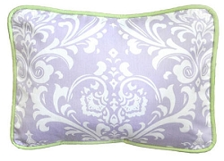 Damask Throw Pillow | Sweet Violet Crib Collection