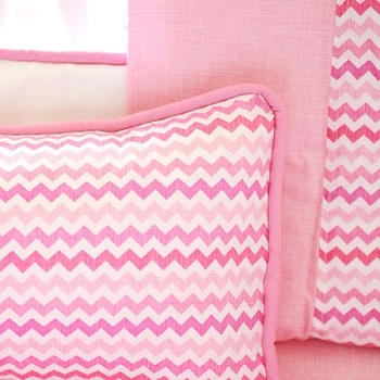 Pink Chevron Pillow | Sweetheart Chevron Collection