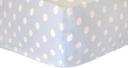 Baby Blue Polka Dot Crib Sheet