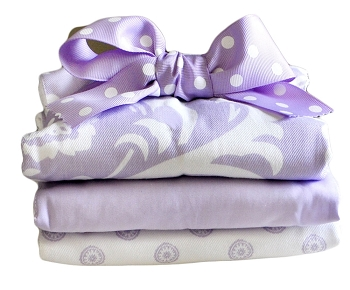Violet Pattern Burp Cloth |Sweet Violet Crib Collection