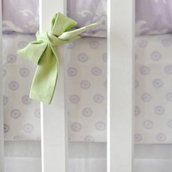 Lavender Crib Sheet | Sweet Violet Collection