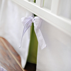 Green and Lavender Crib Skirt | Sweet Violet Crib Collection