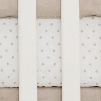 Tan Star Crib Sheet |  Washed Linen in Flax Crib Collection