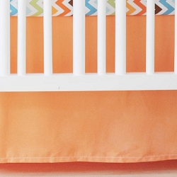 Solid Orange Crib Skirt