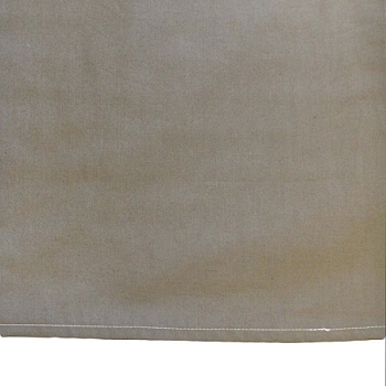 Custom Taupe Poplin Tailored Crib Skirt
