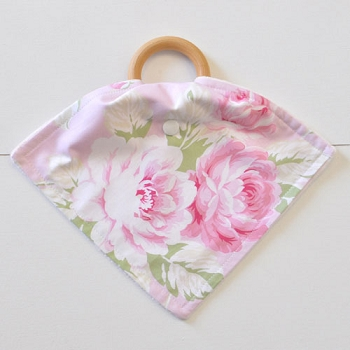 Pink Floral Teething Blankets | Pink Desert Rose Collection