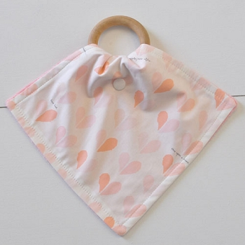 Peach Heart Teething Blankets | Once Upon a Time Collection