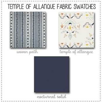 Temple of Allanque Crib Collection Fabric Swatches Only