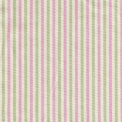 Thin Green and Pink Stripe Fabric | P Kaufman Blueberry Hill Clover 523