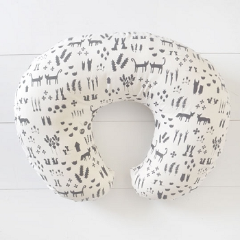 Black Woodland Nursing Pillow Slipcover | This and That Crib Collection