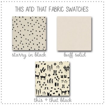This and That Crib Bedding Collection Fabric Swatches Only