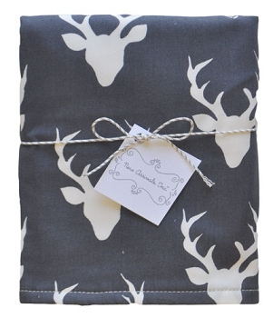 Navy Deer Travel Changing Pad | Buck Forest in Twilight Collection
