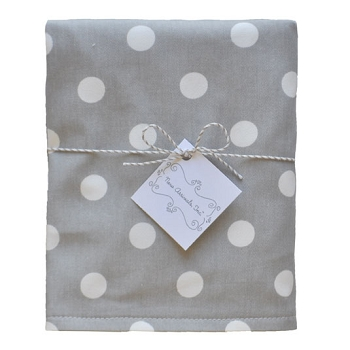 Polka Dot Travel Changing Pad | Zig Zag Baby in Gray Crib Collection