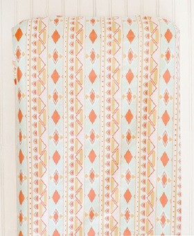 Tribal Changing Pad Cover | Tribal Study in Aura Crib Collection