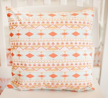 Tribal Pillow | Tribal Study in Aura  Crib Collection