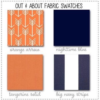 Out and About Bedding Collection Fabric Swatches Only