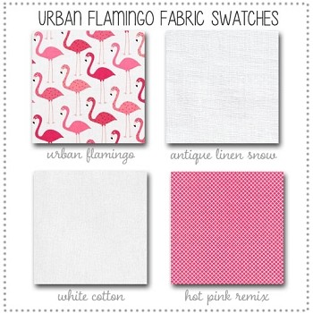 Urban Flamingo Crib Collection Fabric Swatches Only