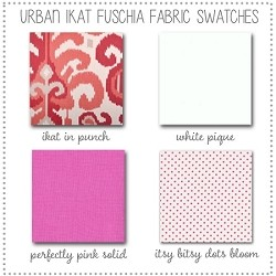 Urban in Ikat Baby Bedding Collection Fabric Swatches Only