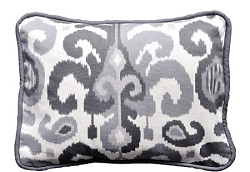 Gray Ikat Throw Pillow  |  Urban Ikat in Gray Crib Collection