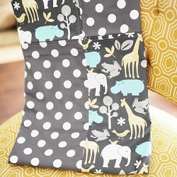 Jungle Animal Baby Blanket  |  Urban Zoo Crib Collection