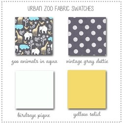 Urban Zoo Crib Collection Fabric Swatches Only