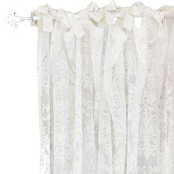 Velvet Ivory Curtain Panels  |  Velvet Baby in Ivory Crib Collection