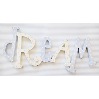 Nursery Blue Wood Wall Word Sign - Dream