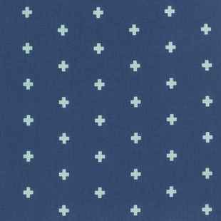 Navy Cross Fabric | Wander Cross Midnight Fabric