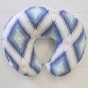 Navy Aztec Nursing Pillow Covers | Wander in Blue Collection