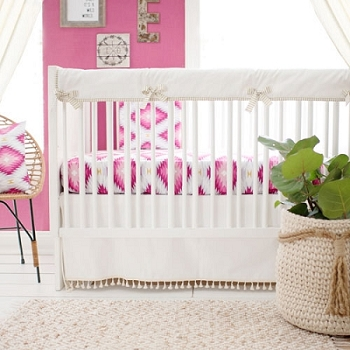 Pink Aztec Crib Rail Cover Set | Wander in Pink Crib Collection