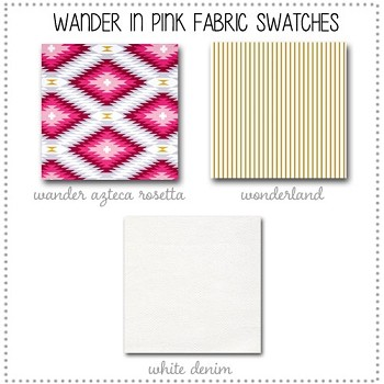 Wander in Pink Crib Collection Fabric Swatches Only