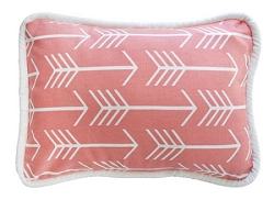 Coral Arrow Throw Pillow  |  Wanderlust in Coral Crib Collection