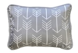 Gray Arrow Throw Pillow | Wanderlust in Gray Crib Collection