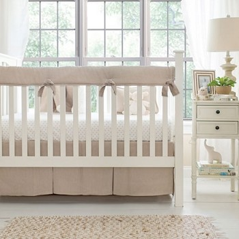 Linen Bedding Set | Washed Linen in Flax Crib Collection