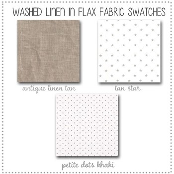 Washed Linen in Flax Crib Collection Fabric Swatches Only