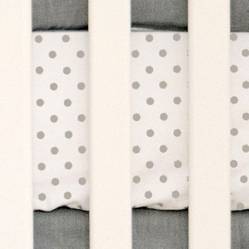 Gray Polka Dot Crib Sheet | Washed Linen in Gray Collection