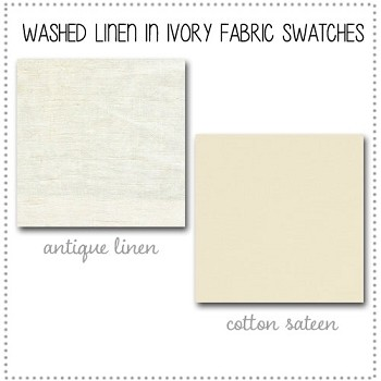 Washed Linen in Ivory Crib Bedding Collection Fabric Swatches Only