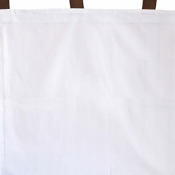 White Curtain Panels with Chocolate Grograin Ties
