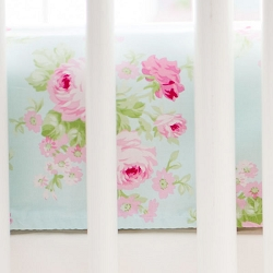 Floral Crib Sheet | Wild Bouquet in Aqua Crib Collection
