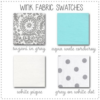 Wink Crib Collection Fabric Swatches Only