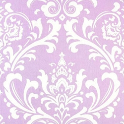 Lavender Damask Crib Sheet | Wisteria Collection