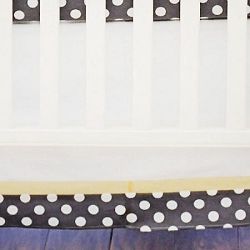 Yellow and Gray Crib Skirt  |  Urban Zoo Crib Collection