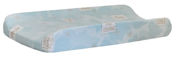 Aqua and Gold Changing Pad Cover | You are Magic in Aqua Crib Collection