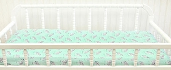 Mint Animal Print Changing Pad Cover  |  Zebra Parade in MInt Crib Collection